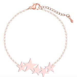 Jewelry - Metal Star Cluster 18K Rose Gold Bracelet